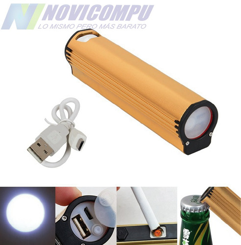 promo 3x1 power bank 4en1, encendedor, destapador, linterna