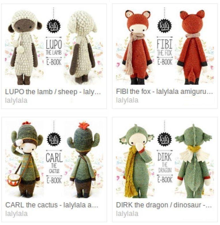 promo! 4 Patrón Lalylala + 1 De Regalo - Crochet Amigurumi - $ 169 ...