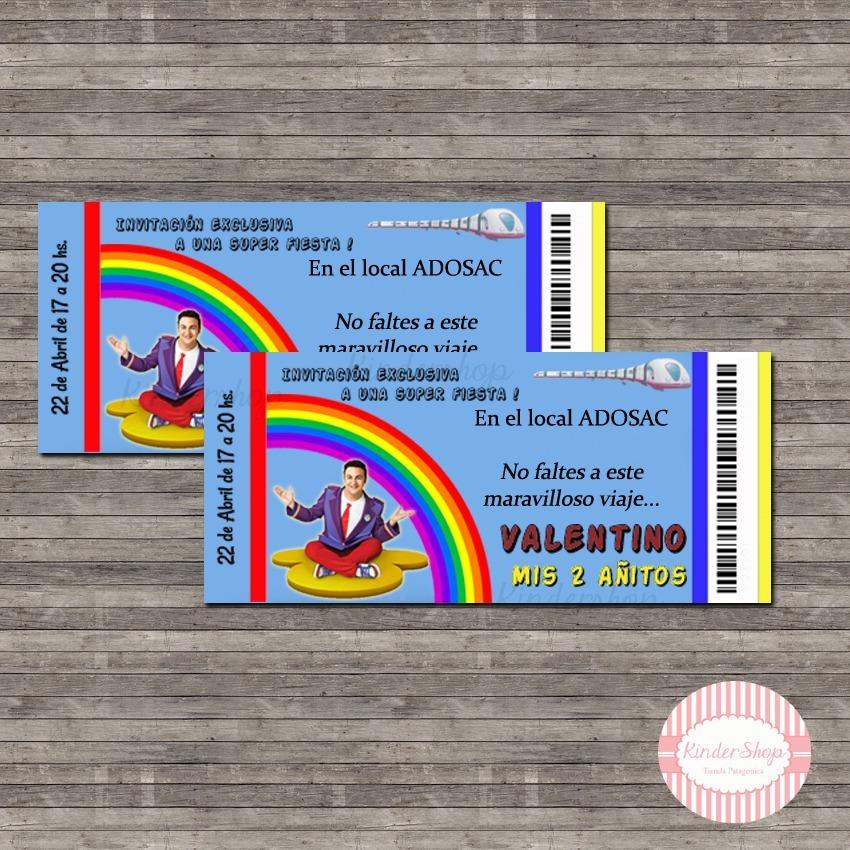 Promo 40 Invitaciones Junior Express Topa