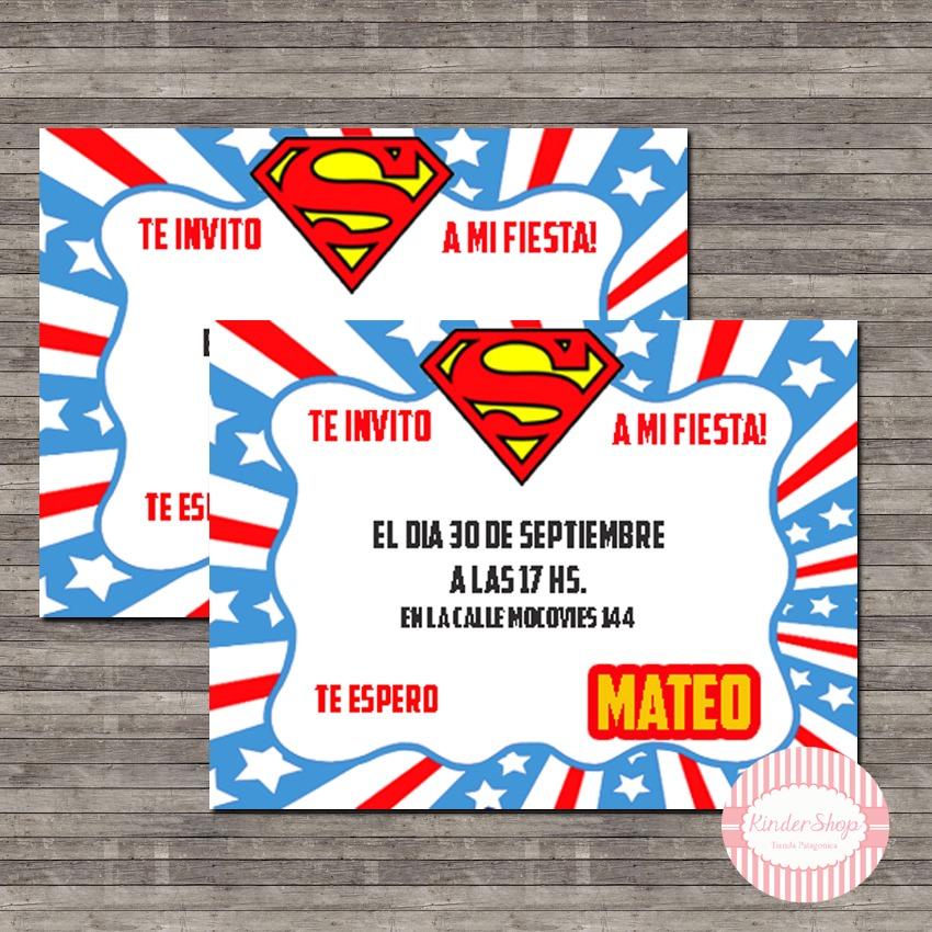 Invitaciones De Superheroes