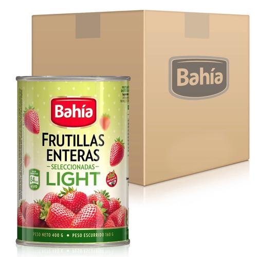 promo 50% dto. 36 latas frutillas bahía light + envio gratis