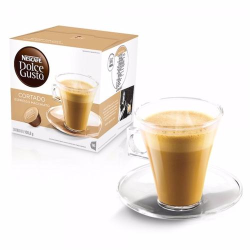 promo 80 capsulas cafetera nescafe dolce gusto cafe cortado