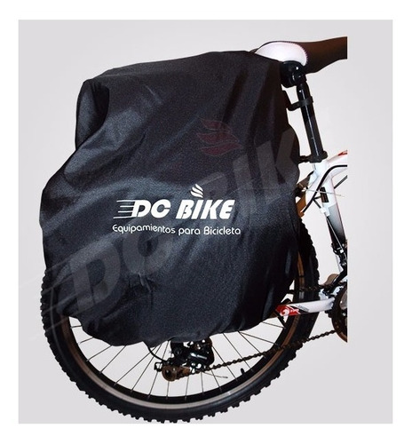 promo!! alforja p/ bici 70 lts + cubre + morral delantero