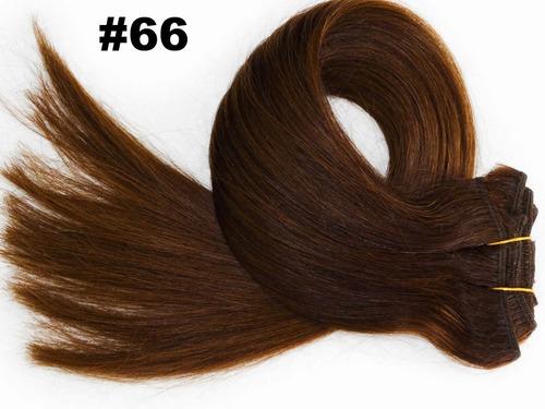 promo aplique cabelo tic tac premium 120g 55cm 6pc cor 66