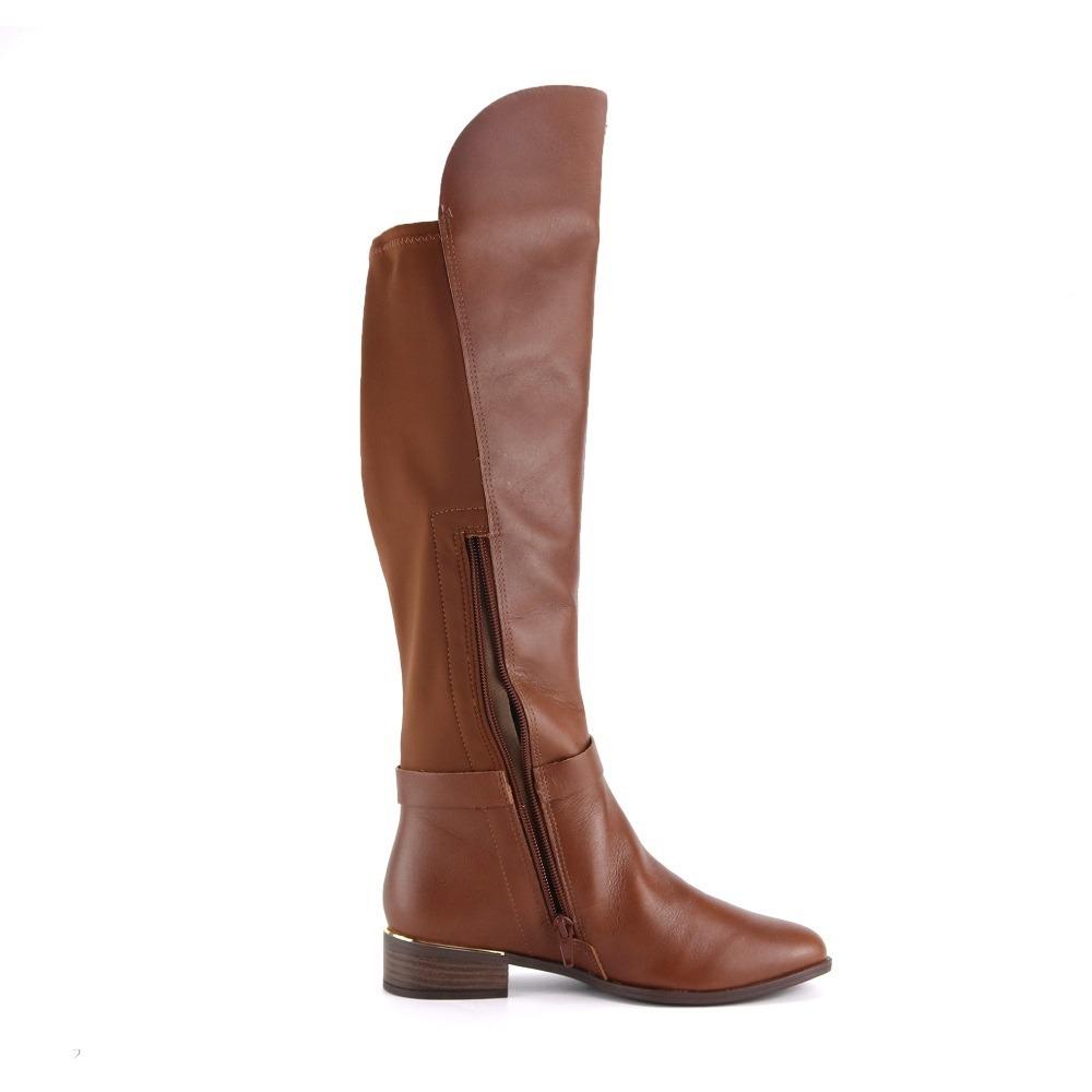 afe35ab68 promo bota over the knee feminina ramarim 1752102 caramelo. Carregando zoom.