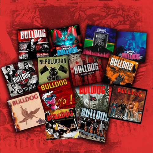 promo bulldog   5 cds nuevos a eleccion x $ 1600