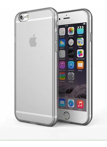 promo carcasa blanda iphone 6 6s + vidrio templado