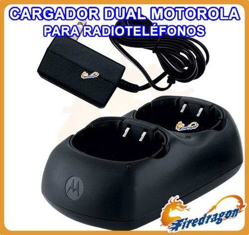 promo cargador dual motorola para todo radio serie talkabout