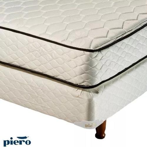 promo colchón y sommier 2 plazas + 2 almohadas + sabanas