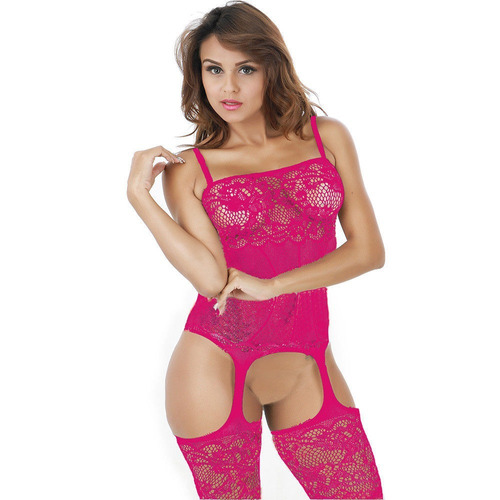 promo colores catsuit body red con abertura lenceria erotica