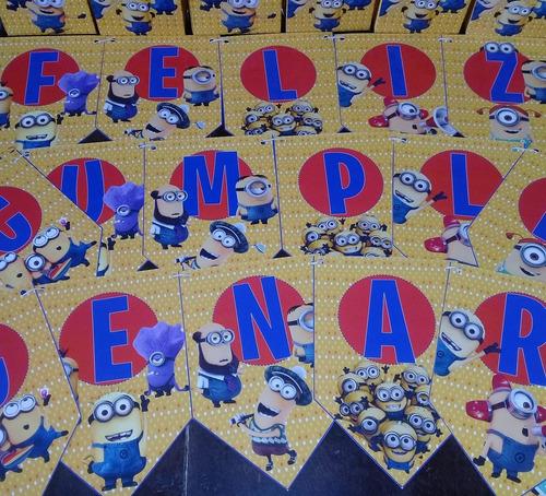 promo cotillon infantil personalizado minions x 20 chicos