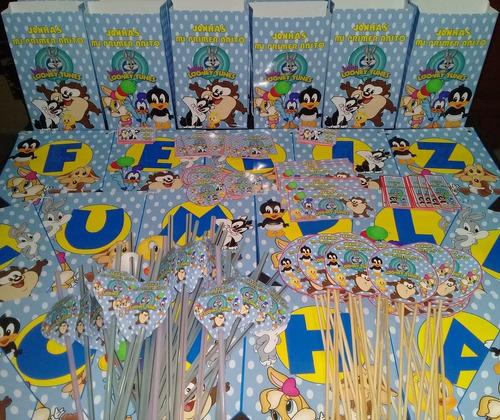 promo cotillon personalizado baby looney tunes x 20 chicos