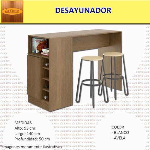 promo desayunador + bancos - cocina - comedor - living- lcm