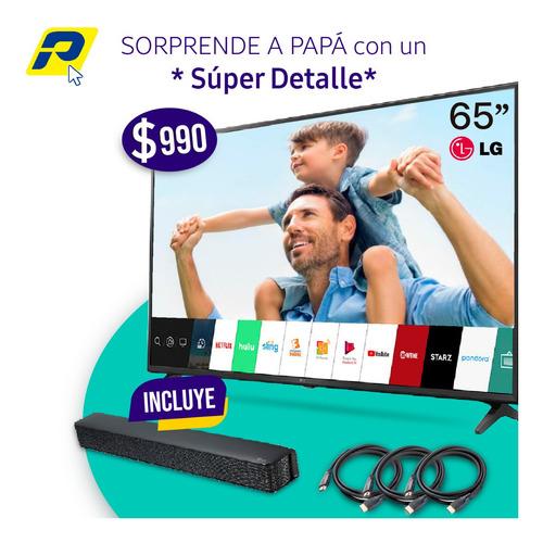 promo dia padre tv lg  65 + barra de sonido y hdmi cables