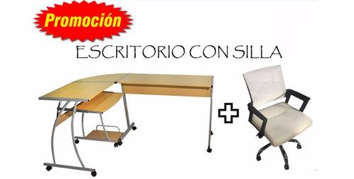 Promo Escritorio En L + Silla Oficina Chica Oferta Por Todo ...