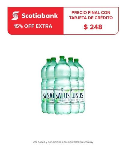 promo funda agua salus sin gas 2.25 l x 6 unidades
