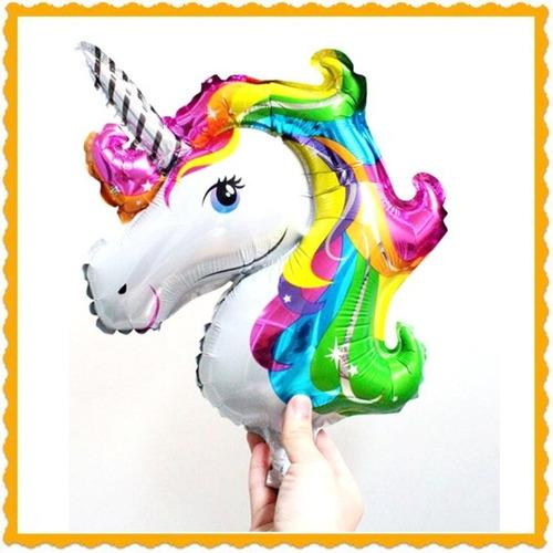 promo globos unicornio (9 globos en total )