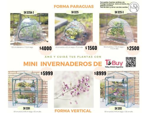 promo invernadero paraguas x 2 - para la huerta- sh3225-3