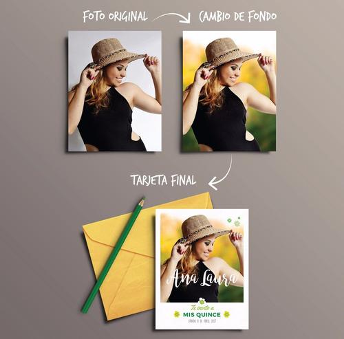 promo invitaciones participaciones tarjetas de quince años