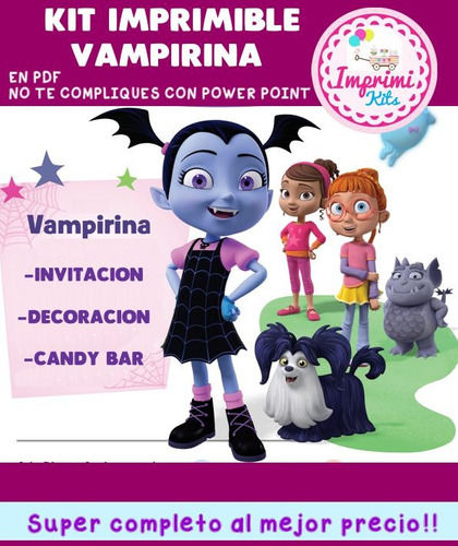 promo kit imprimible vampirina personalizado nuevo!