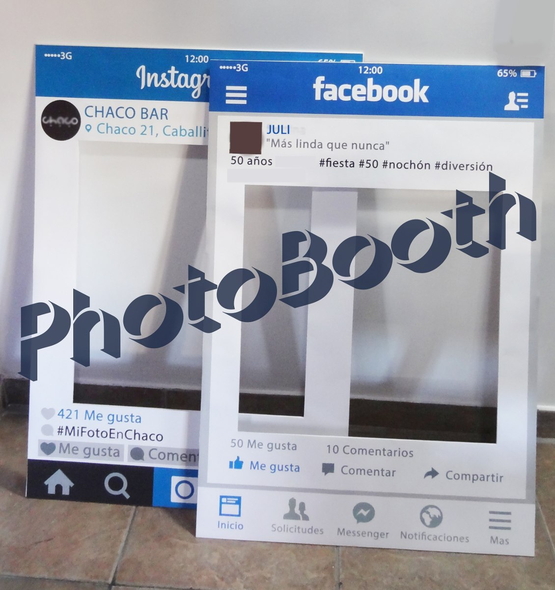 Promo Marco Facebook / Instagram Photo Booth + 30 Accesorios - $ 800 ...