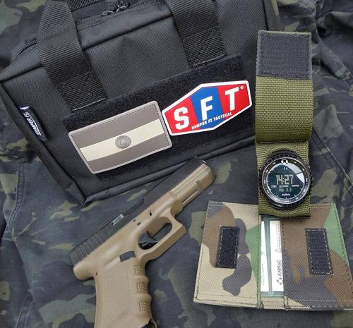 promo muñequera cubre reloj + porta credencial slim s f t ®