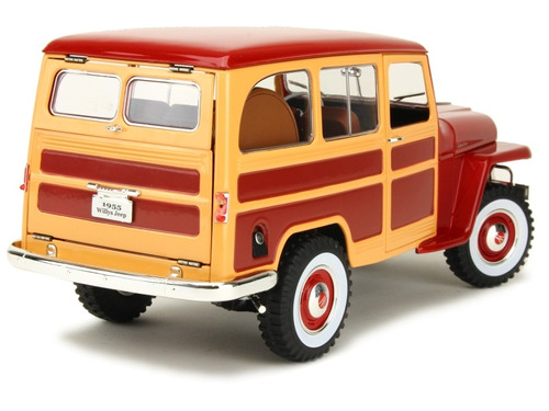 promo natal 1:18 rural willys 1955 jeep woody miniatura