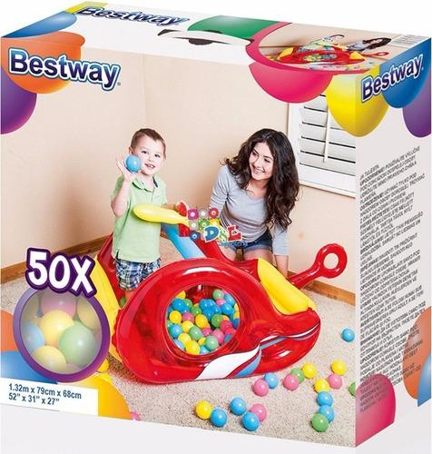 promo pelotero inflable avión pileta bestway + 50 pelotas