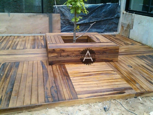 promo pergola de madera dura - construcción zona norte