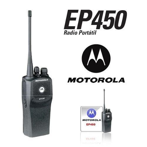 promo radio portátil motorola ep450 uhf vhf robusto +regalos