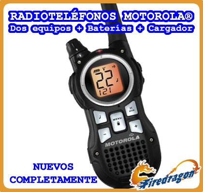 promo radioteléfonos motorola 2unid 56km baterías envio grat