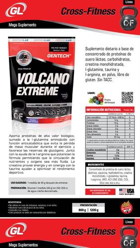 promo rugby fuerza recupero volcano + cds gentech creatina