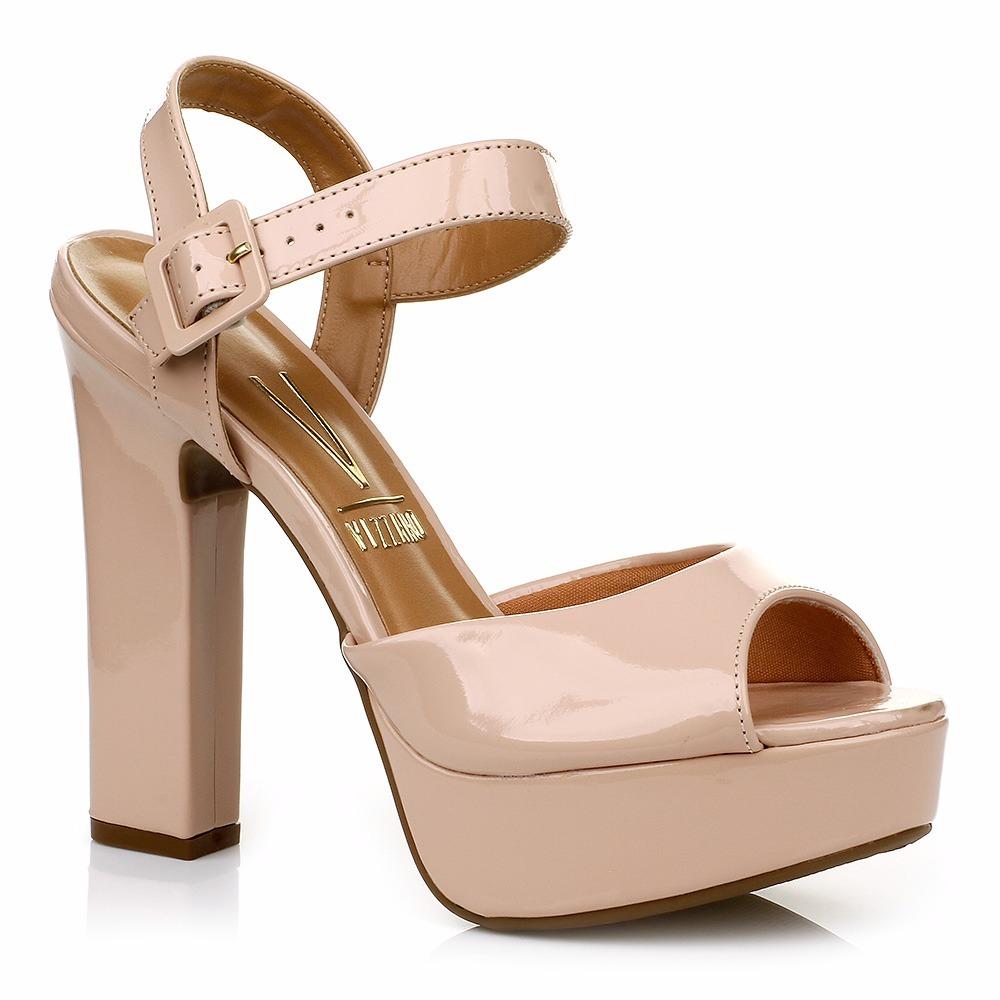 aa400c3c3 #promo sandália vizzano verniz bege com meia pata. n38. Carregando zoom.