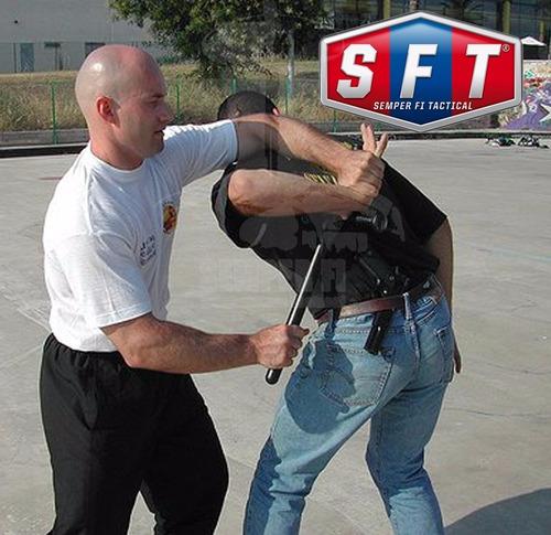 promo tonfa policial + porta tonfa p/ correaje de s f t ®