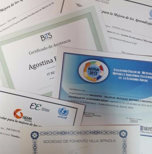 promo x50 certificados / diplomas a-4
