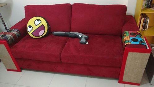 promoçao de agosto arranhador de gato e protetor de sofa
