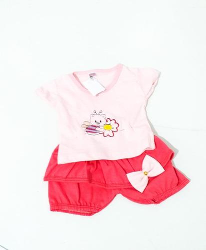 promoçao kit 5 roupinhas roupas bebe menina chamosa 2-6meses