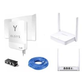 Promoção Kit Internet Móvel Rural Elsys Link3g+roteador Wifi