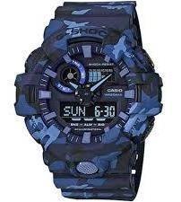 promocao relógio casio masculino g-shock camuflado ga-700cm