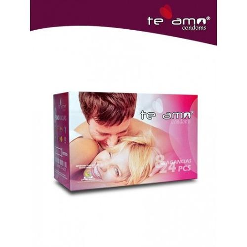 promoción 24 condones teamo preservativos - condones te amo,