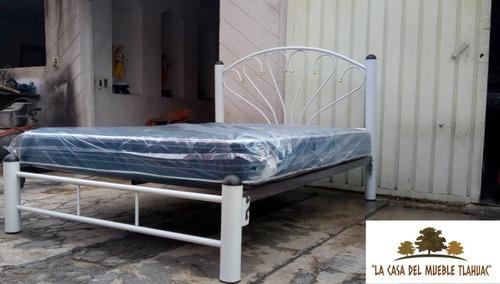 promoción 2x1  cama tubular matrimonial + colchón