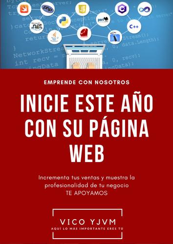 promoción año nuevo página web dominio+hosting+logo por 132v