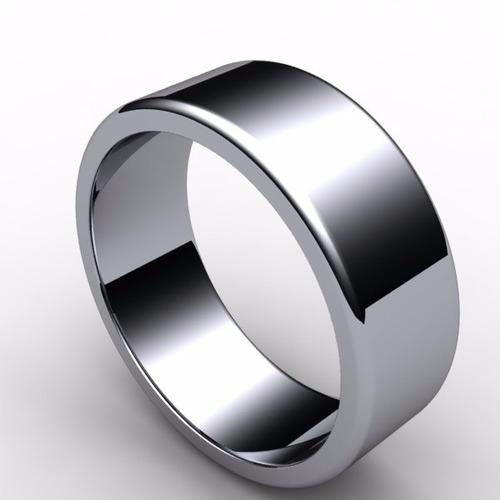 promocion argollas de matrimonio plata 950 rodinada (par)
