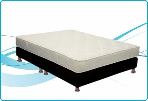 promoción base cama+colchón semis ortopédico 140 +regalo