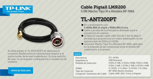 [promocion] cable rf 2.4 ghz hdf-200 0.5 mts cable pigtail -