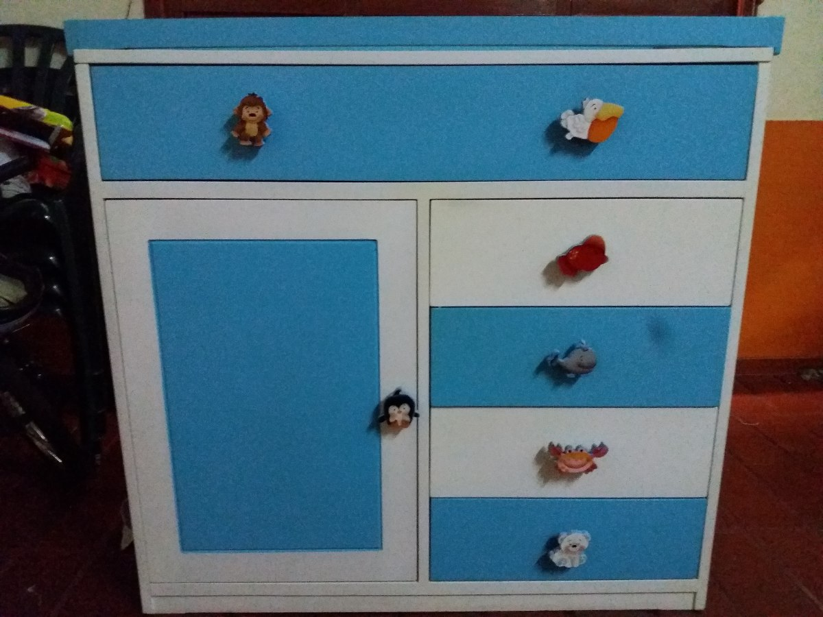 Promoci n cama cuna armario bebes 0 a 5 a os en madera en mercado libre - Armarios de bebe ...