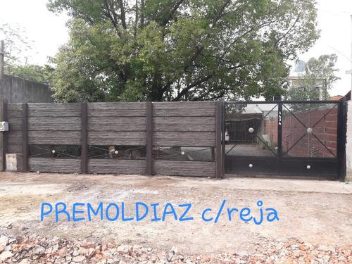 promoción cerco premoldeado símil madera modelo exclusivo!!!