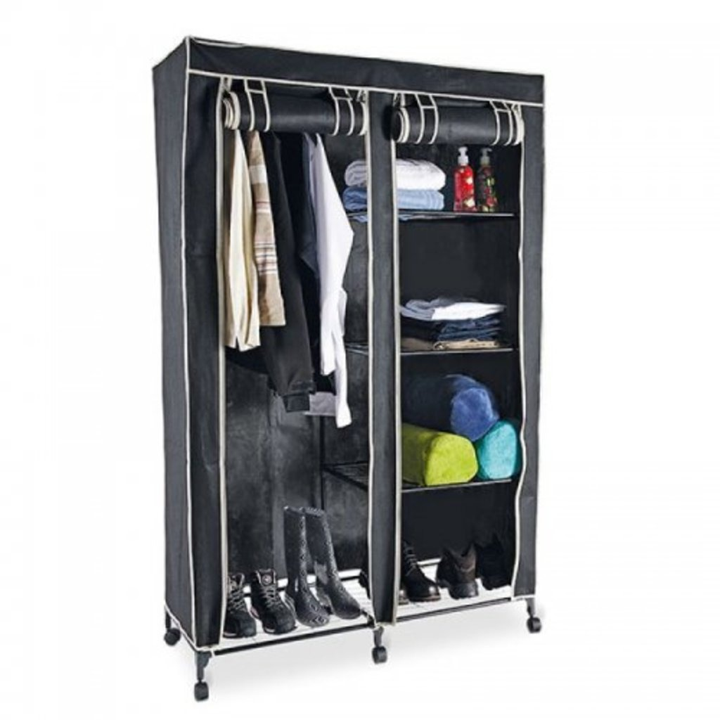 Promocion closet armario tela doble con ruedas armable - Ruedas para armarios ...