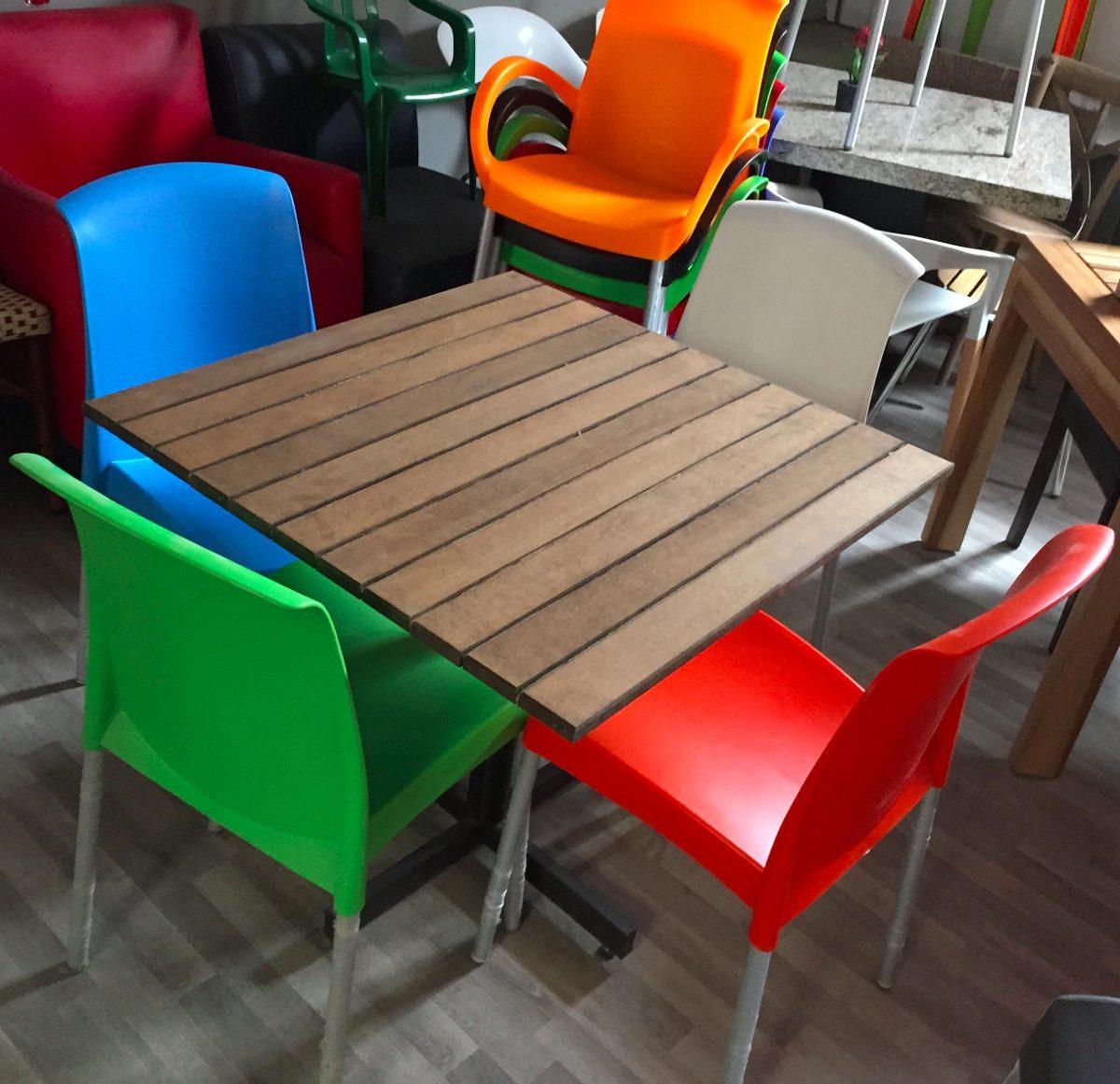 Promoci n de mesas cons sillas para restaurant o cafeteria 2 en mercado libre - Sillas para cafeteria ...