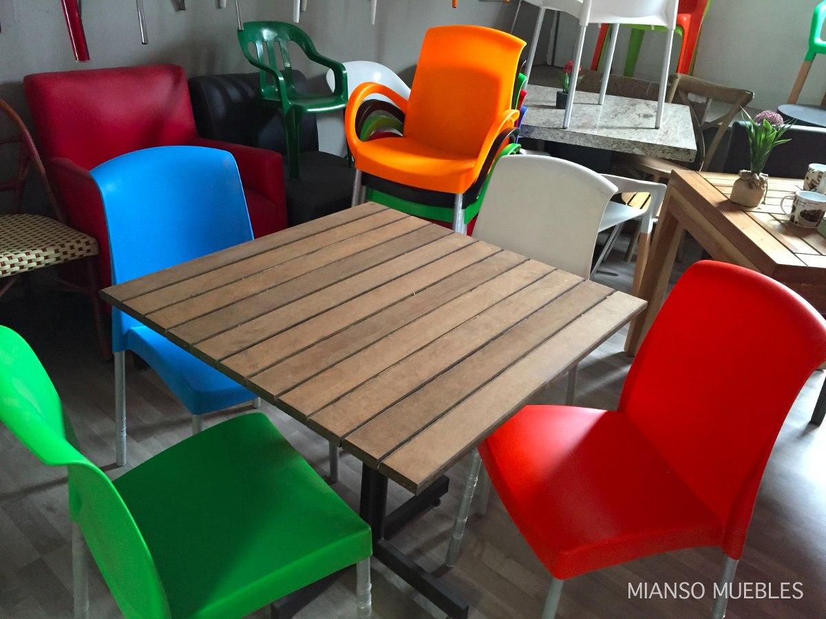 Promoci n de mesas cons sillas para restaurant o cafeteria for Silla 14 cafe resto mendoza mendoza